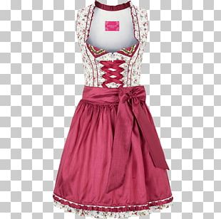 Dirndl Cocktail Dress Folk Costume Fashion PNG