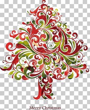 Irregular Elements Christmas Tree PNG