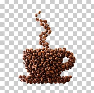 Coffee Bean Espresso Cafe Coffee Cup PNG