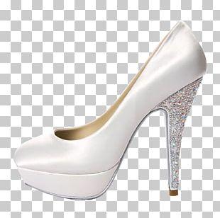 High-Heel Wedding Church Shoe High-heeled Footwear Bride White Wedding PNG