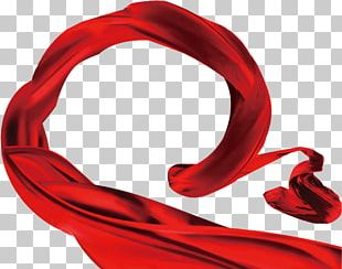 Red Ribbon Silk Textile PNG