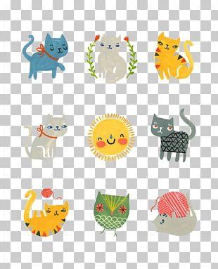 Cat Kitten Cartoon Drawing Illustration PNG