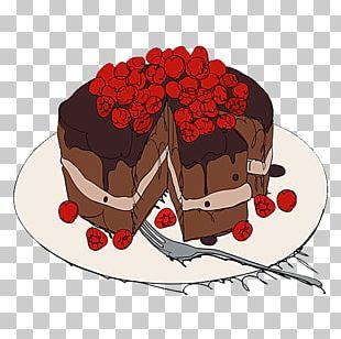 Chocolate Cake Christmas Cake Cream Torte Milk PNG