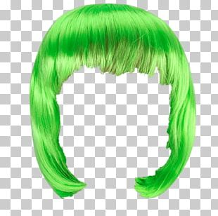 Wig Green Bob PNG