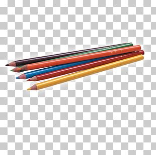 Colored Pencil Stationery PNG