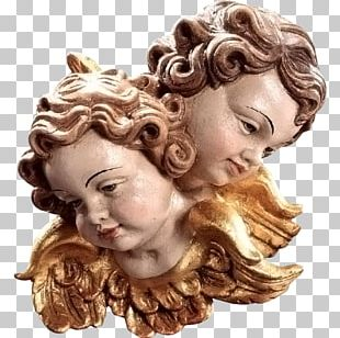 Head Of An Angel Baroque Putto Sculpture PNG