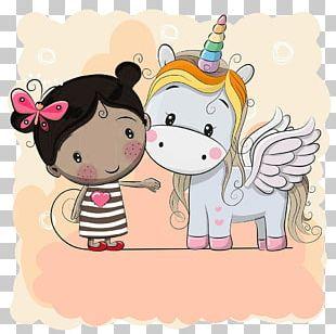 Unicorn Cartoon Drawing PNG