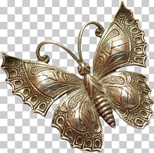 Butterfly Insect Pollinator Brooch 01504 PNG