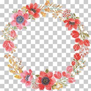 Wedding Invitation Paper Wreath Flower Garland PNG