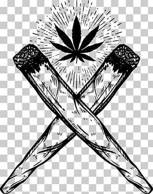 Joint Drawing Cannabis Smoking PNG