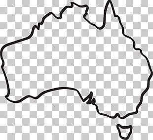 Australia Map Drawing PNG