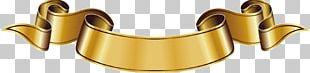 Ribbon Euclidean Gold PNG