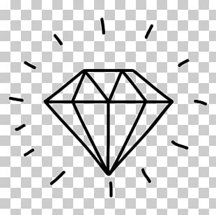 Diamond Doodle Gemstone Drawing PNG