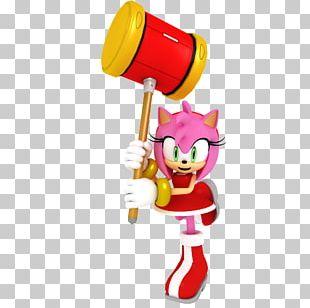 Amy Rose Sonic 3D Art PNG