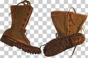 Jungle Boot Shoe Suede Combat Boot PNG