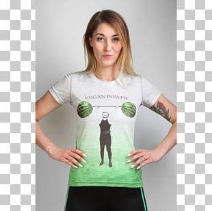 T-shirt Top Veganism Sleeve Sport PNG