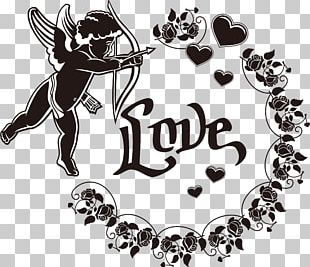 Decorative Silhouettes Cupid Heart PNG