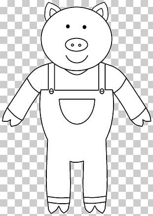 The Three Little Pigs Coloring Book Domestic Pig Child PNG