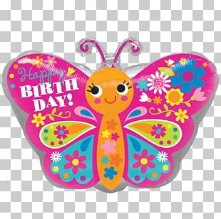 Happy Birthday To You Balloon Gift Butterfly PNG