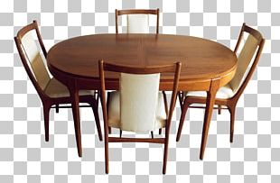 Table Chair Danish Modern Dining Room Mid-century Modern PNG