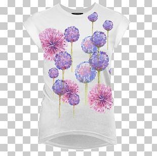 T-shirt Lilac Flower Violet Color PNG