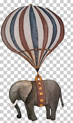 Hot Air Ballooning Indian Elephant PNG