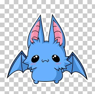 Spooky Bat Kawaii Drawing PNG