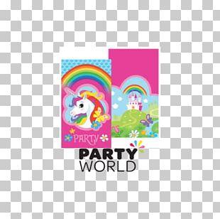 Wedding Invitation Unicorn Party Birthday Paper PNG