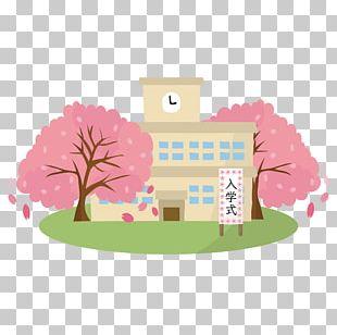 Cherry Blossom 卒業式 入学式 Matriculation Illustration PNG
