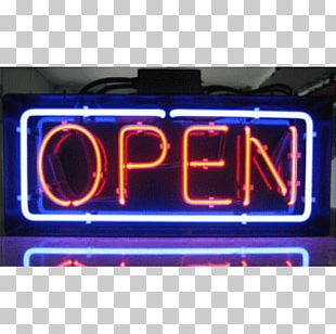 Neon Sign Light Electronic Signage Fluorescent Lamp PNG