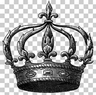 Crown Fleur-de-lis Tiara Brooch PNG
