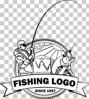 Logo Fishing Fish Hook Angling PNG