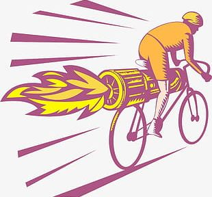 Bike Racing Jet Engine Bicycle PNG