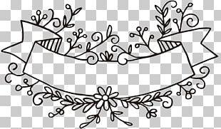 Paper Banner Flower PNG