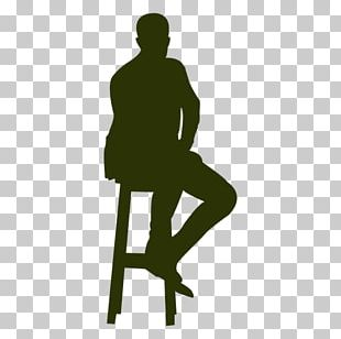 Eames Lounge Chair Silhouette Sitting PNG