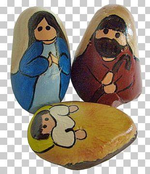 Nativity Scene Painting Rock Christmas Nativity Of Jesus PNG