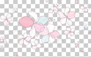 Petal Floral Design Cherry Blossom Pattern PNG