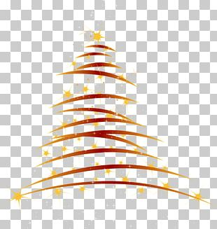 Christmas Tree Red PNG