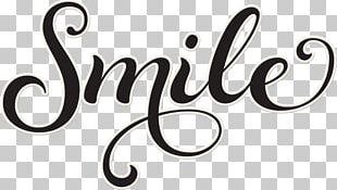 Cursive Smile Word Letter PNG