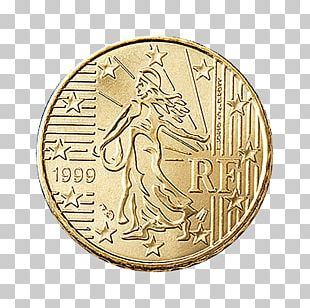French Euro Coins 1 Cent Euro Coin PNG