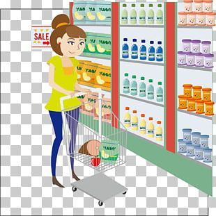 Supermarket Woman PNG