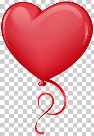 Valentine Love Heart Balloon Valentine's Day Frame PNG