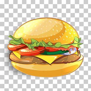 Hamburger Veggie Burger Cheeseburger Drawing PNG