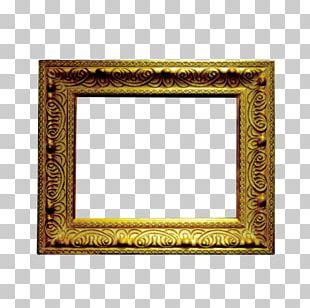 Frame Gold Computer File PNG