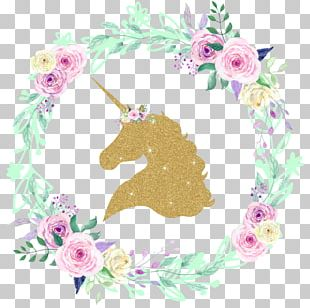 Unicorn Glitter Decal Iron-on PNG