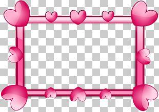 Frame Heart Pink PNG