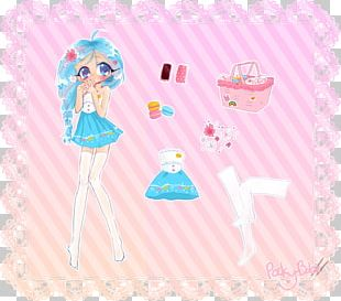 Paper Doll Pink M Party Favor PNG