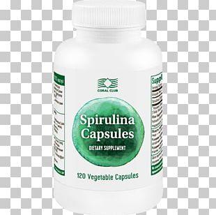 Dietary Supplement Spirulina Coral Club International Tablet Vitamin PNG