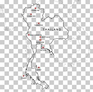 Thailand Map Library Black And White PNG