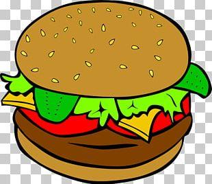 Hamburger Chicken Sandwich Cheeseburger Fast Food Veggie Burger PNG